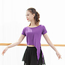 זול הלבשה לריקודים לטיניים-ריקוד לטיני חולצות בגדי ריקוד נשים הצגה צורני סלסולים שרוולים קצרים עליון