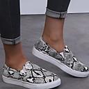 זול נעלים שטוחות לנשים-בגדי ריקוד נשים שטוחות שטוח בוהן עגולה PU קיץ שחור / נמר / צהוב