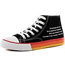 Χαμηλού Κόστους Αντρικά Αθλητικά Παπούτσια-Ανδρικά Νεωτεριστικά παπούτσια Πανί Ανοιξη καλοκαίρι / Φθινόπωρο & Χειμώνας Βρετανικό / Κολεγιακό Αθλητικά Παπούτσια Περπάτημα Μη ολίσθηση Μαύρο / Κόκκινο / Μαύρο / Μπλε