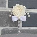 ราคาถูก ดอกไม้งานแต่งงาน-ดอกไม้สำหรับงานแต่งงาน ช่อดอกไม้ที่ใช้ติดเสื้อเจ้าบ่าวและญาติที่เป็นผู้ชายของเจ้าบ่าวและเจ้าสาว งานแต่งงาน แพรต่วน / แก้ว 0-10 ซม.