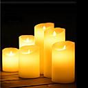 billiga Artificiell Blomma-1st Nattbelysning / Dekorativt Ljus / Flameless Candles Varmvit AA Batterier Drivs Vackert / Atmosfärlampa / Romantisk present <5 V