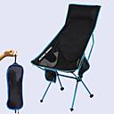 billige Turmøbler-camping stol med side lomme Høy rygg med nakkestøtte Multifunksjonell Bærbar Ultra Lett (UL) Sammenleggbar Net 7075 Aluminiumslegering til 1 person Jakt Fisking Strand Camping Vår, Høst, Vinter