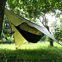 baratos Artigos Para Acampamento-Rede de Camping com Pop Up Mosquito Net Protetor de Chuva Para Redes Ao ar livre Portátil A Prova de Vento Filtro Solar Pára-quedas de nylon com mosquetões e tiras de árvore para 2 Pessoas Acampar e
