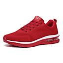 זול נעלי ספורט לנשים-בגדי ריקוד נשים נעלי אתלטיקה מראה ספורטיבי שטוח סריגה ספורטיבי / יום יומי ריצה קיץ & אביב / קיץ שחור / אפור / אדום