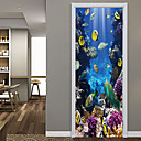 Χαμηλού Κόστους Ψηφιακά πολύμετρα & παλμογράφοι-υποβρύχια αυτοκόλλητα πόρτας ψαριών διακοσμητικά αδιάβροχη διακόσμηση decal πόρτας
