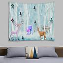 billige Wall Tapestries-Blomster Tema / Eventyr Tema Veggdekor 100% Polyester Moderne Veggkunst, Veggtepper Dekorasjon