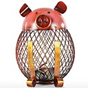 baratos Arrumação e Organização-Metal Oval Legal / Adorável Casa Organização, 2pcs Garrafas e Jarras