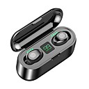 cheap TWS True Wireless Headphones-Z-YeuY F9 TWS True Wireless Stereo Earbuds IPX5 Waterproof Touch Control Mini Bluetooth 5.0 Headphones with Power Display 2000mAh Power Bank Recharge the Phone High Sound Quality Noise Reduction
