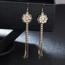Χαμηλού Κόστους Τσαντάκια & Βραδινές Τσάντες-Γυναικεία Κρυστάλλινο Κρεμαστά Σκουλαρίκια Φούντα Λουλούδι Γλυκός Μοντέρνα Σκουλαρίκια Κοσμήματα Χρυσό / Ασημί Για Γάμου Πάρτι 1 Pair