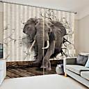 billige LED-stringlys-3d print privatliv to paneler polyester gardin for hage / bad vanntette støv-proof dekorative høy kvalitet gardiner