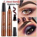 Χαμηλού Κόστους Σκιές Ματιών-τέσσερα κεφάλια υγρό φρύδι μολύβι μαύρο καφέ αδιάβροχο διαρκές χρώμα ξεθωριάζει τα καλλυντικά μακιγιάζ φρύδι