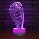 baratos Luzes LED de Pista-1pç Luz noturna 3D USB Criativo / Aniversário / Com porta USB 5 V