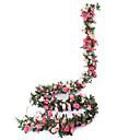 ราคาถูก ดอกไม้ประดิษฐ์-ตงกวน pho_09k15 แพ็คประดิษฐ์ดอกกุหลาบเถาดอกไม้ประดิษฐ์แขวน home hotel สำนักงานงานแต่งงานตกแต่งสีชมพูอ่อน + ลึกสีชมพู