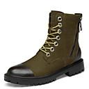 זול מגפיים לגברים-בגדי ריקוד גברים נעלי עור עור נאפה Leather חורף ספורטיבי / יום יומי מגפיים הליכה שמור על חום הגוף מגפיים באורך אמצע - חצי שוק שחור / חאקי