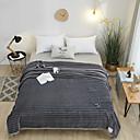 זול שמיכות וכיסויים-שמיכות מיטה / סופה לזרוק / שמיכות רב תכליתיות, אחיד / אריג טפט (Damask) / קלאסי פּוֹלִיאֶסטֶר חם יותר נוח רך מאוד סמיך
