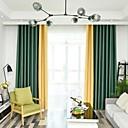 billige Vegglamper-skreddersydde gardiner moderne minimalistisk sømstil to paneler blackout gardiner for soverom / stue
