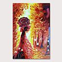 Χαμηλού Κόστους Πίνακες Ανθρώπων-Hang-ζωγραφισμένα ελαιογραφία Ζωγραφισμένα στο χέρι - Άνθρωποι Αφηρημένο Τοπίο Μοντέρνα Χωρίς Εσωτερικό Πλαίσιο