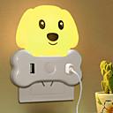 Χαμηλού Κόστους Βάζα & Καλάθι-1pc Wall Plug Nightlight Κίτρινο Δημιουργικό 220-240 V