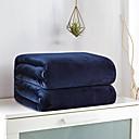 billige Tepper og pledd-Sengetepper / Sofa kaste, Enkel / Helfarge / Klassisk 100% Mikro Fiber Varmer comfy Supermyk tepper