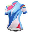 Χαμηλού Κόστους Τζάκετ Ποδηλασίας-Fastcute Γυναικεία Κοντομάνικο Φανέλα ποδηλασίας Βαθυγάλαζο Ουράνιο Τόξο Ποδήλατο Αθλητική μπλούζα Μπολύζες Ποδηλασία Βουνού Ποδηλασία Δρόμου Αναπνέει Ύγρανση Γρήγορο Στέγνωμα Αθλητισμός / Ελαστικό