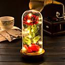 baratos Lâmpada Smart LED-1pç LED Night Light Branco Quente Baterias AA alimentadas Criativo 5 V