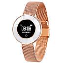 ราคาถูก Smartwatches-x6 เลดี้สร้อยข้อมือสมาร์ท ip68 กันน้ำสายเหล็กตรวจสอบอัตราการเต้นของหัวใจความดันโลหิต smart watch ผู้หญิง s mart w atch