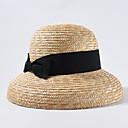 baratos Produtos Anti-Stress-Palha Chapéus com Cor Única 1 Peça Casual / Roupa Diária Capacete