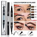 billige Øyenbryn-dobbel øyenbryn blyant eyeliner vanntett to-i-ett multi-funksjonell langvarig øye sminke.