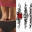 billiga tatuering klistermärken-3 stk skadad ensam varg vattentät tillfällig tatuering män ledsen djur tillfällig tatuering tatouage rosa falsk tatuering ärm tatoo klistermärke