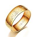 povoljno Muške sandale-Muškarci Žene Band Ring Prsten Prstenasti prsten 1pc Crn Srebro Plava Titanium Steel Cirkularno Osnovni Moda Dar Dnevno Jewelry Vjera Molitva Cool