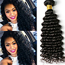 billige Bil-lader-6 pakker Brasiliansk hår Dyp Bølge Ubehandlet hår Menneskehår Vevet Bundle Hair En Pack Solution 8-28inch Naturlig Farge Hårvever med menneskehår Lugtfri Myk Klassisk Hairextensions med menneskehår