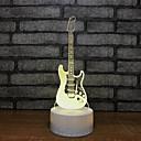 billige 3D Nattlamper-gitar fontenen lys natt syv farger lampe 3d visuell kreativ liten gave 3d armaturer helheter