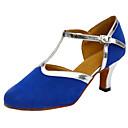 baratos Brincos-Mulheres Sapatos de Dança Moderna / Dança de Salão Camurça Estilo -T Salto Salto Cubano Personalizável Sapatos de Dança Azul marinho