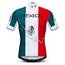 זול חולצות רכיבת אופניים-WEIMOSTAR בגדי ריקוד גברים שרוולים קצרים חולצת ג'רסי לרכיבה לבן מקסיקו דגל לאומי אופנייים ג'רזי צמרות נושם פתילת לחות ייבוש מהיר ספורט פוליאסטר אלסטיין טרילן רכיבת הרים רכיבת כביש ביגוד / מיקרו-אלסטי
