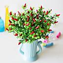 billige Bakeformer-1 stk simulering liten pepper vann gress skum pepper 7 gaffel liten rød pepper stue spisestue dekorasjon simulering falsk blomsterdekorasjon