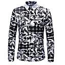 povoljno Biciklističke majice-Veličina EU / SAD Majica Muškarci Dnevni Nosite Geometrijski oblici Crn / Dugih rukava