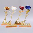 Χαμηλού Κόστους Τέχνη Crafts-24k χρυσό φύλλο χρυσού αυξήθηκε με δώρο γενεθλίων ημέρα του Αγίου Βαλεντίνου του Αγίου Βαλεντίνου δώρο ενιαίο λουλούδι
