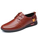 Χαμηλού Κόστους Αντρικά Oxford-Ανδρικά Παπούτσια άνεσης Νάπα Leather Καλοκαίρι Καθημερινό / Βρετανικό Oxfords Περπάτημα Αναπνέει Μπότες στη Μέση της Γάμπας Μαύρο / Καφέ / Φούντα