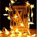זול צעצועים מגנטיים-6m כוכב אורות 40 מדים חם לבן / צבע שינוי מסיבת החתונה חג המולד קישוט aa סוללות מופעל 1pc