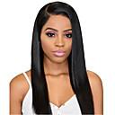 povoljno Sintetičke perike s čipkom-Prednja perika od sintetičkog čipke Ravan kroj Stil Duboko udaljavanje Lace Front Perika Crna Sintentička kosa 24 inch Žene Nježno Najbolja kvaliteta Rasprodaja Crna Perika Dug Modernfairy Hair / Da