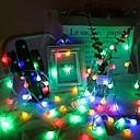 ราคาถูก สายไฟ LED-10เมตร ไฟสาย 100 ไฟ LED ขาวนวล / White ปาร์ตี้ 220 V 1set