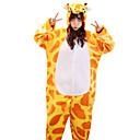 povoljno Kigurumi plišane pidžame-Odrasli Kigurumi plišana pidžama Žirafa Onesie pidžama žuta Cosplay Za Muškarci Žene Zivotinja Odjeća Za Apavanje Crtani film Festival / Praznik Kostimi