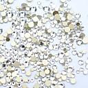 Χαμηλού Κόστους Στρας&Διακοσμητικά-1200pcs / πακέτο diy διαμάντι κοπής κρύσταλλο καρφί τέχνης 3d flatback καρφιά στρας διακοσμήσεις νυχιών 15 χρώματα