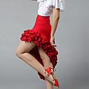 זול אקזוטי Dancewear-ריקוד לטיני חלקים תחתונים בגדי ריקוד נשים הדרכה / הצגה מילק פייבר קפלים / מפרק מפוצל חצאיות