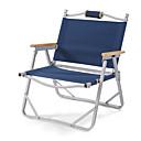 זול ריהוט למחנאות-כיסא קמפינג מתקפל נייד נגד החלקה מתקפל נוח Aluminum Alloy ל 1 אדם קמפינג מחנאות / צעידות / טיולי מערות לטייל פיקניק סתיו אביב ירוק כחול