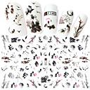 billige Leppestift-1 pcs Klistremerker Tegneserie-serien / Blomster Tema Neglekunst Manikyr pedikyr Mini Stil / Verneutstyr / Ergonomisk Design Stilfull / Enkel