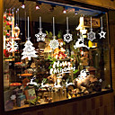 Χαμηλού Κόστους Christmas Stickers-Window Film & αυτοκόλλητα Διακόσμηση Κινούμενα σχέδια / Χριστούγεννα Γεωμετρικό / Χαρακτήρας PVC Αυτοκόλλητο παραθύρου
