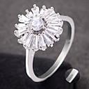 billige Graverte Ringer-personlig tilpasset Klar Kubisk Zirkonium Ring Klassisk Gave Love Festival Geometrisk Form 1pcs Sølv Rose Gull