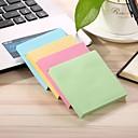 Χαμηλού Κόστους Office Basics-2 πακέτα 100 φύλλα / πακέτο γενικής χρήσης κολλητικές σημειώσεις καραμέλα χρώμα τετράγωνο 7,5 * 7,5 εκατοστά κολλώδεις σημειώσεις μετά το σημείωμα μπλε πράσινο ροζ