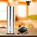 Χαμηλού Κόστους βλεφάρου εργαλεία-Μύλος καφέ Μηχανή λείανσης καφέ Μονό Mini Πολύ Ελαφρύ (UL) Γρήγορο Στέγνωμα Για 1 άτομο Ανοξείδωτο Ατσάλι ΕΞΩΤΕΡΙΚΟΥ ΧΩΡΟΥ Κατασκήνωση Ταξίδι Πικνίκ Ασημί